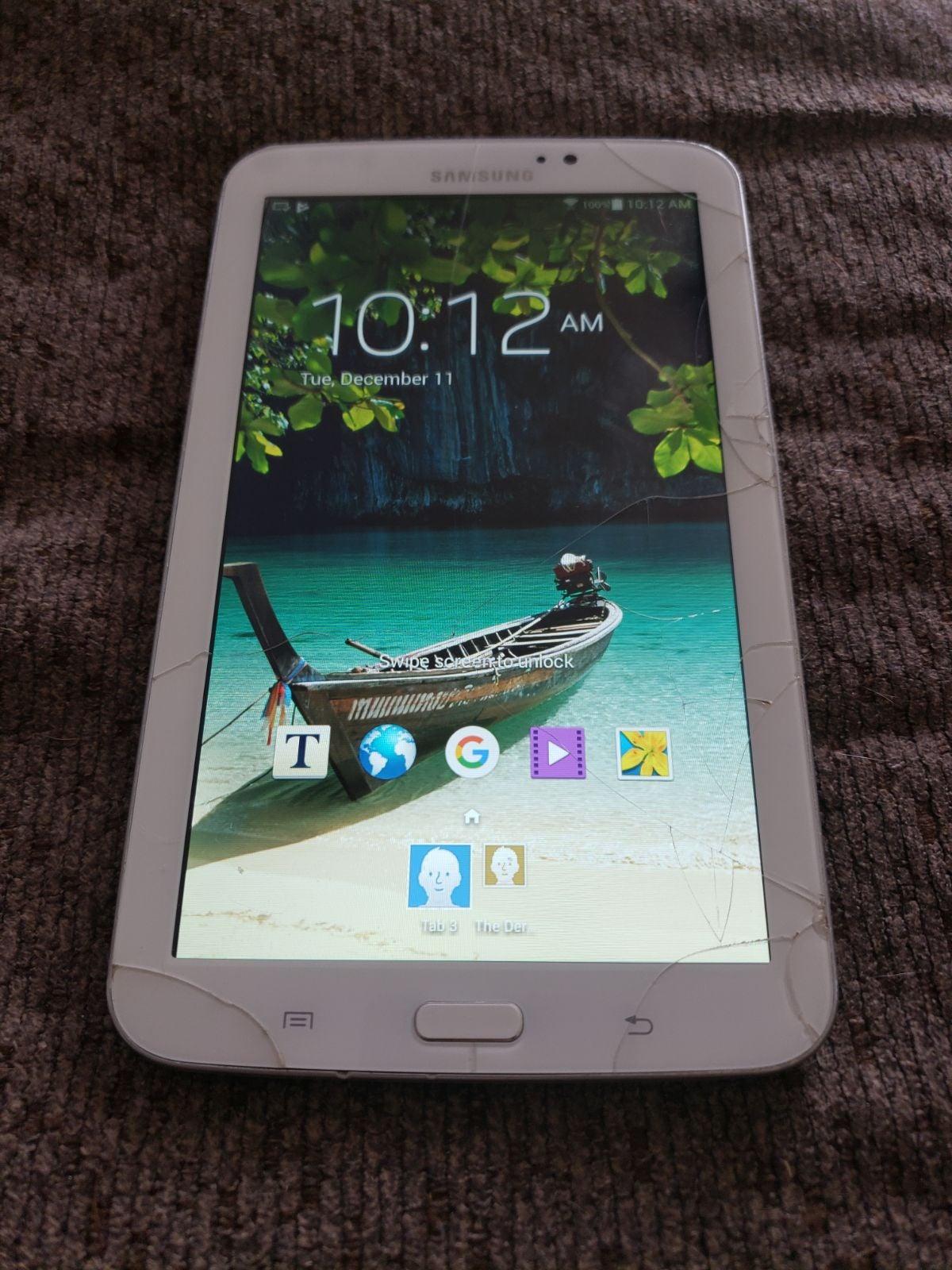 "Crack 7"" Samsung Galaxy Tab 3"