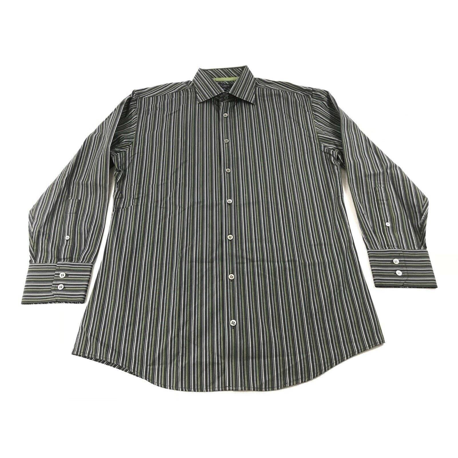 Ted Baker Striped Button Down 16 32/33