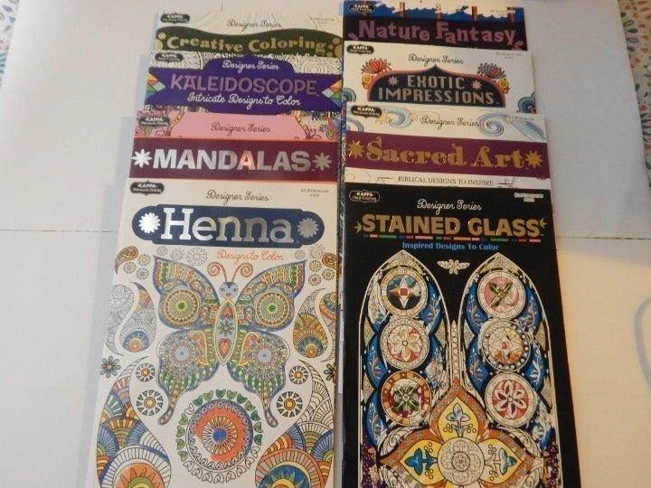 Designer Series Adult Coloring Books (8)