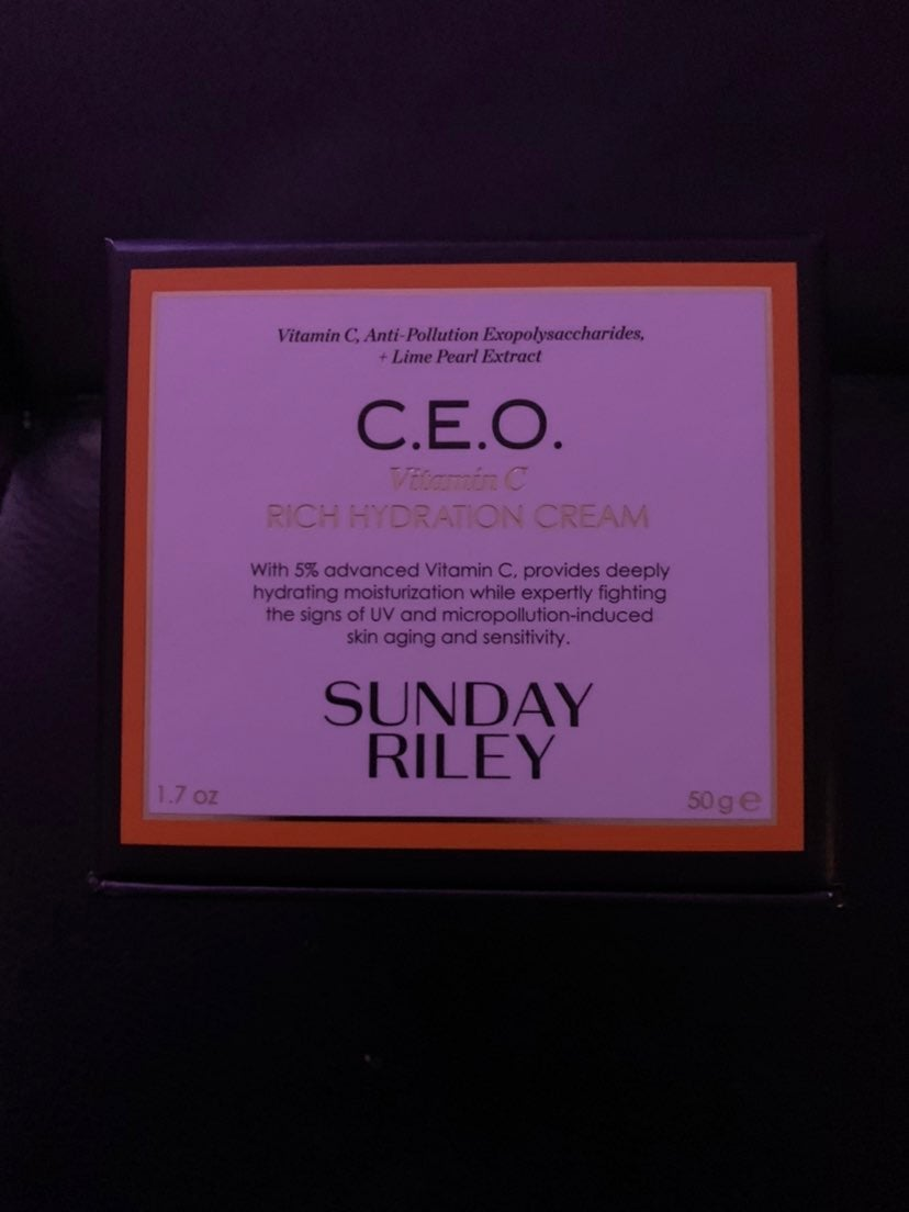 Sunday Riley CEO moisturizer cream