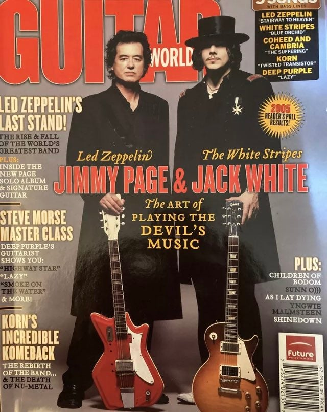 JIMMY PAGE LED ZEPPELIN GUITAR WORLD MAG