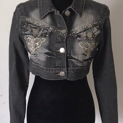 Crest Jean Crop Jacket