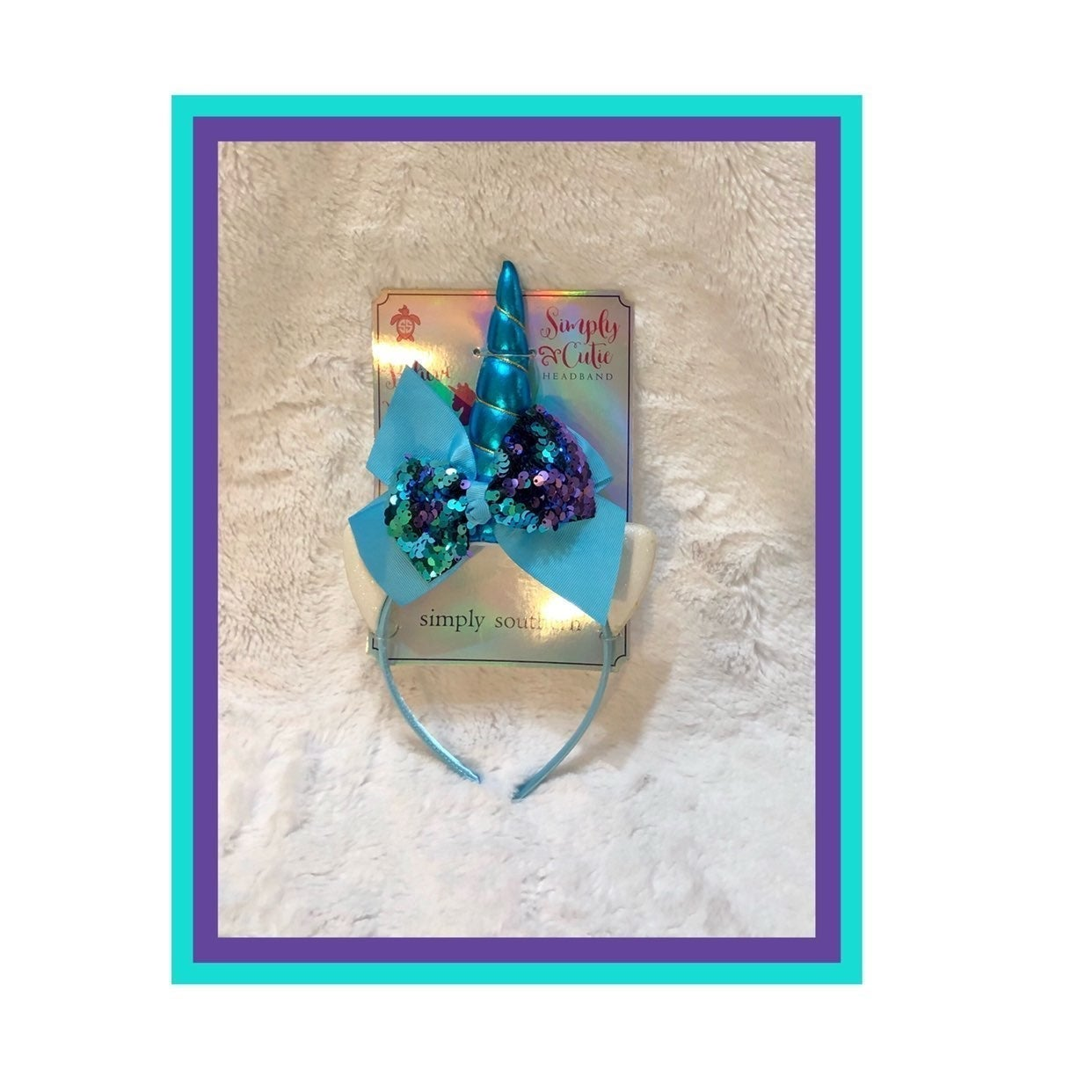 Simply Southern Sequins Unicorn Headband
