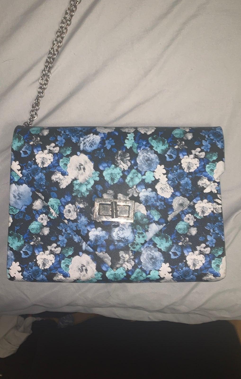Blue Floral purse
