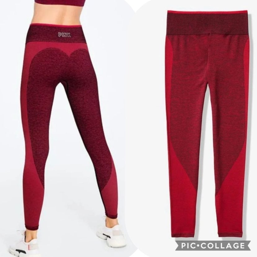 VS PINK sport seamless tight SMALL red