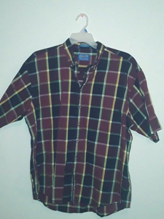 Pendleton Red Yellow Blue Plaid shirt