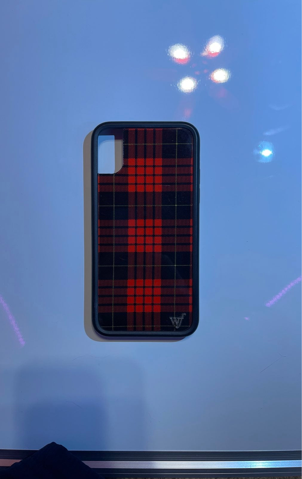 Wildflower case iphone x xs red plaid