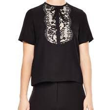 Sandro Lace  Blouse Top 0