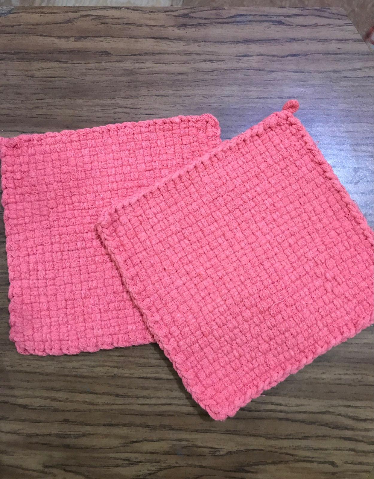 Loom Knit Potholders