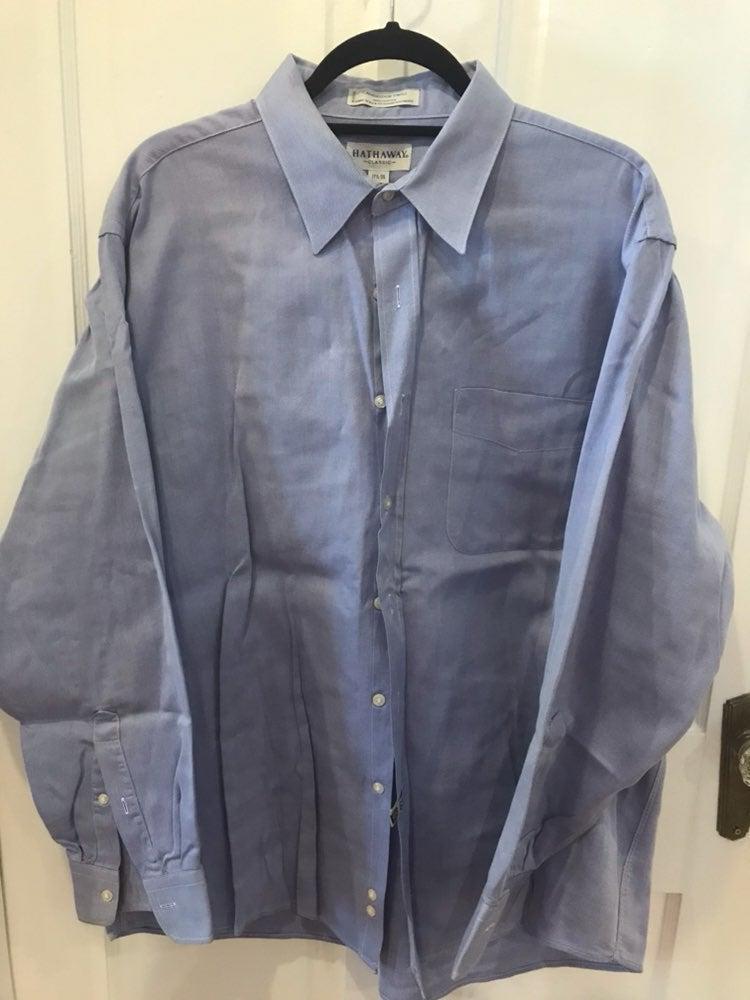 Hathaway 17.5 /35 Long Sleeve Dress Shir