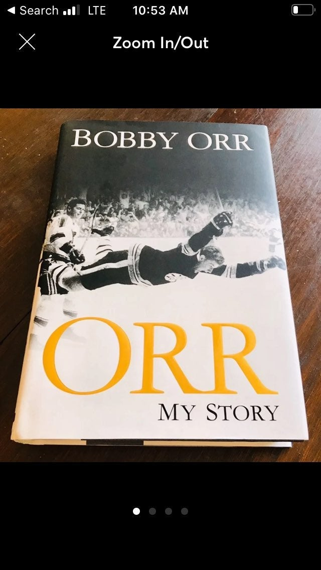 """Bobby Orr Signed Book """"My Story"""" MINT !"""