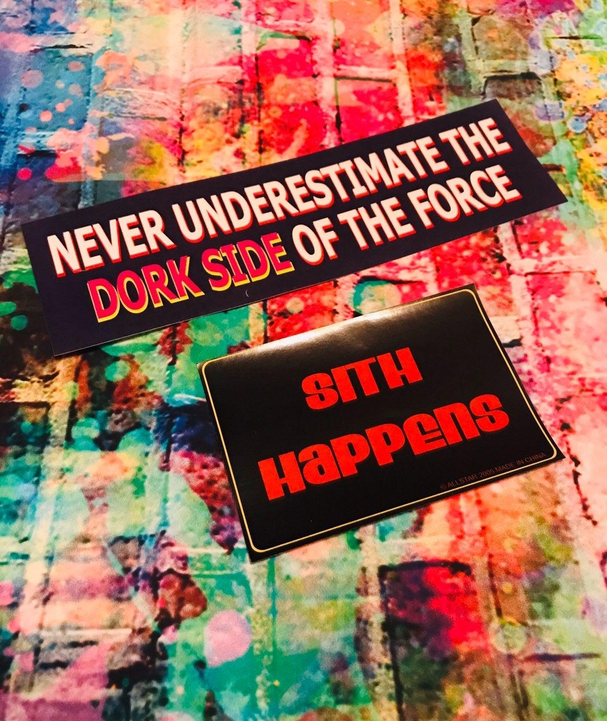 Star Wars Theme Dorkside Sith Stickers