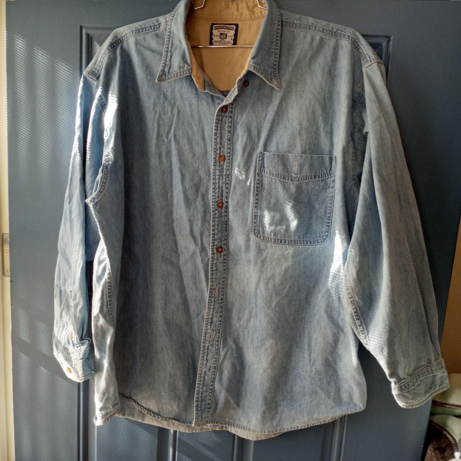 Lee denim Shirt/ men shirt/ 2XL
