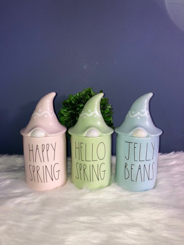 New Rae Dunn spring gnome candles