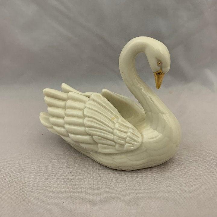 "Lenox Miniature Swan Figurine - 2.5"""