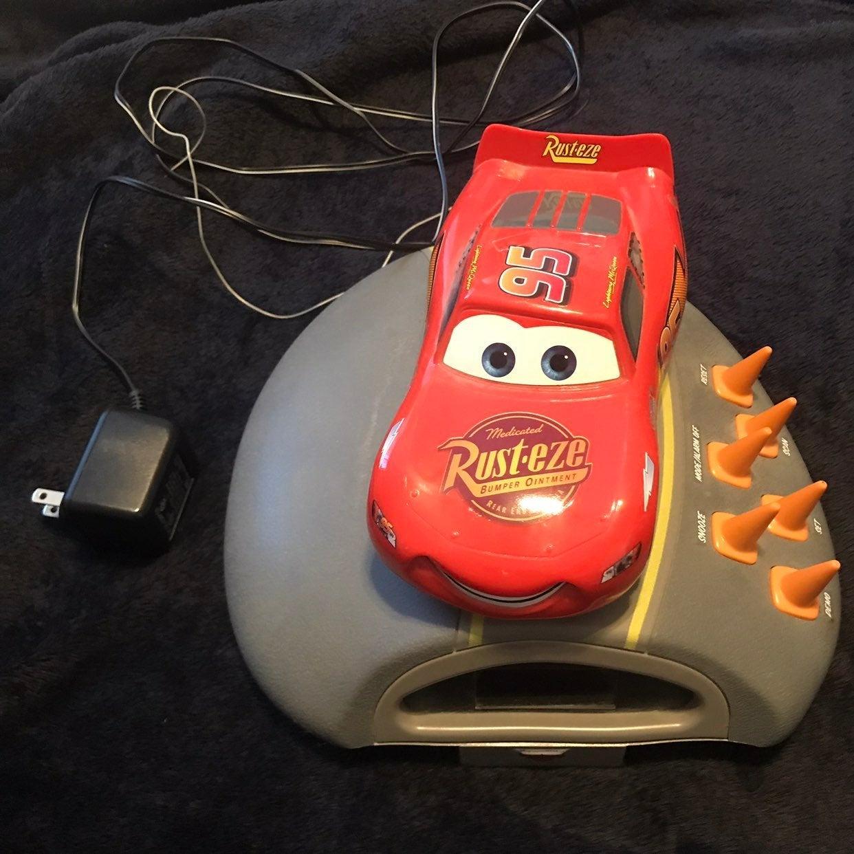 Lightning McQueen Kids Alarm Clock Radio