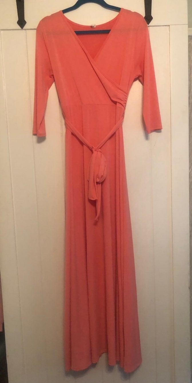 Pink Blush Maxi Maternity Dress L