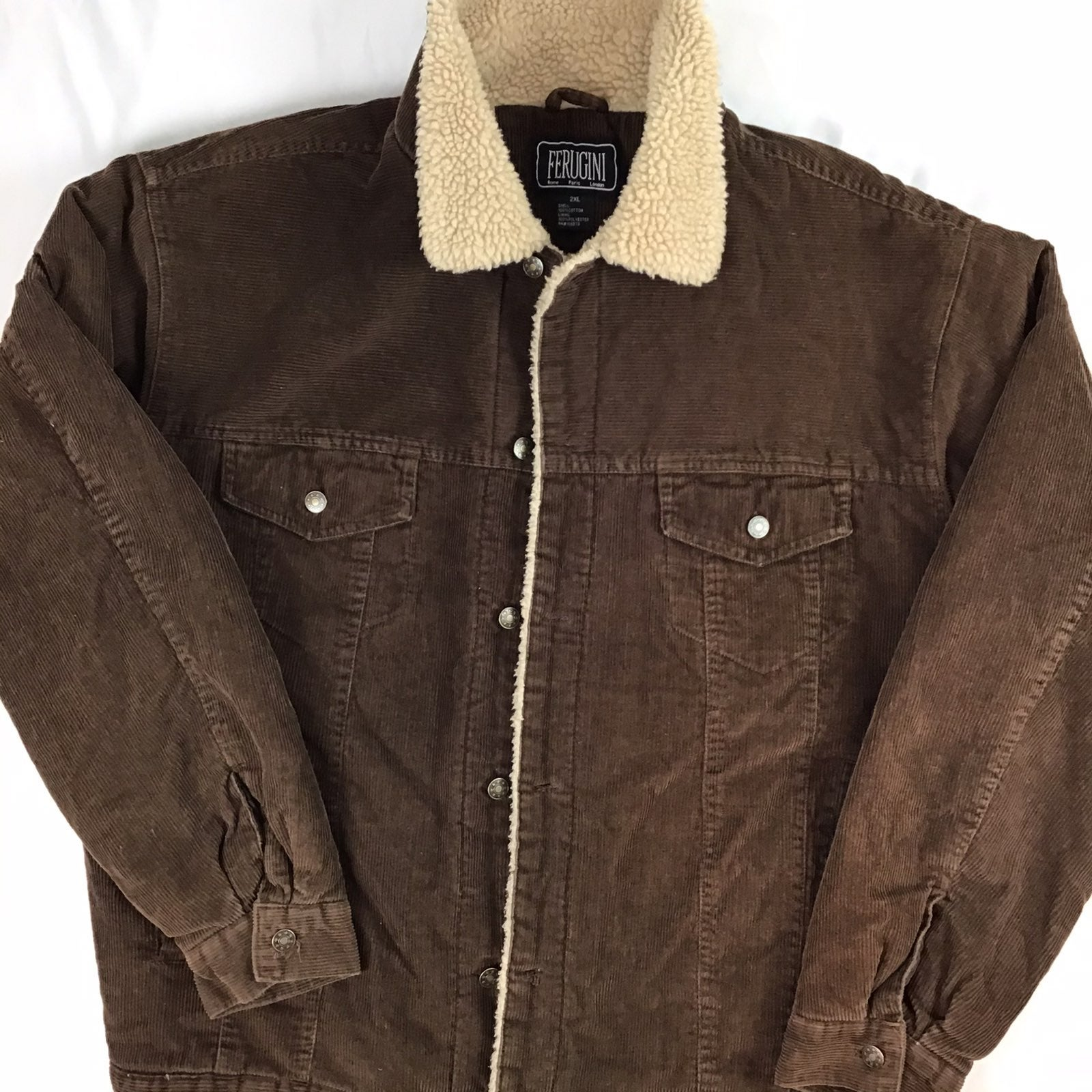 Brown corduroy button up Sherpa.