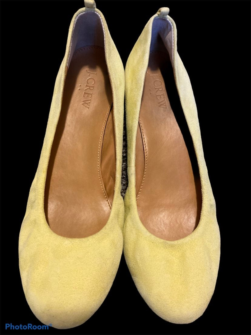 J. Crew Yellow Suede Flats Size 7