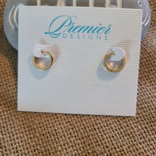 Premier Designs gold Snug earrings