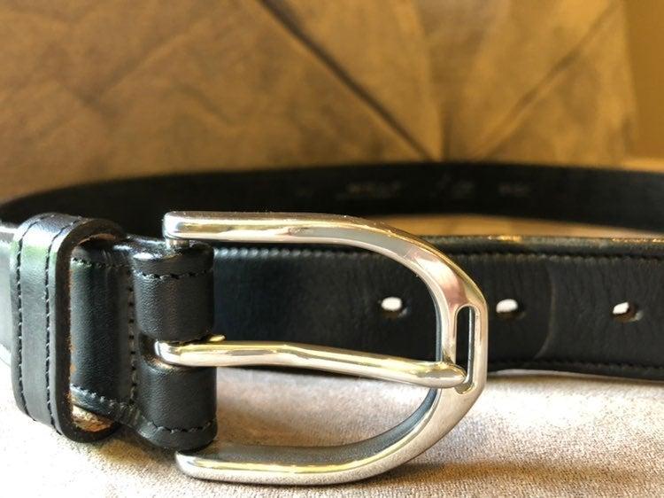 Tory Leather Stirrup equestrian belt, 30