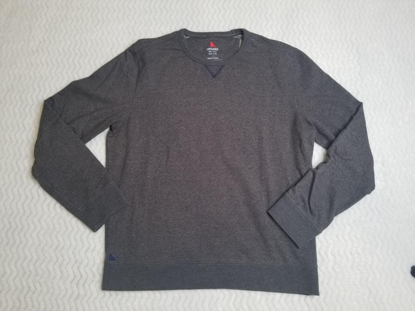UNTUCKit Men's Crew Neck Sweatshirt sz L