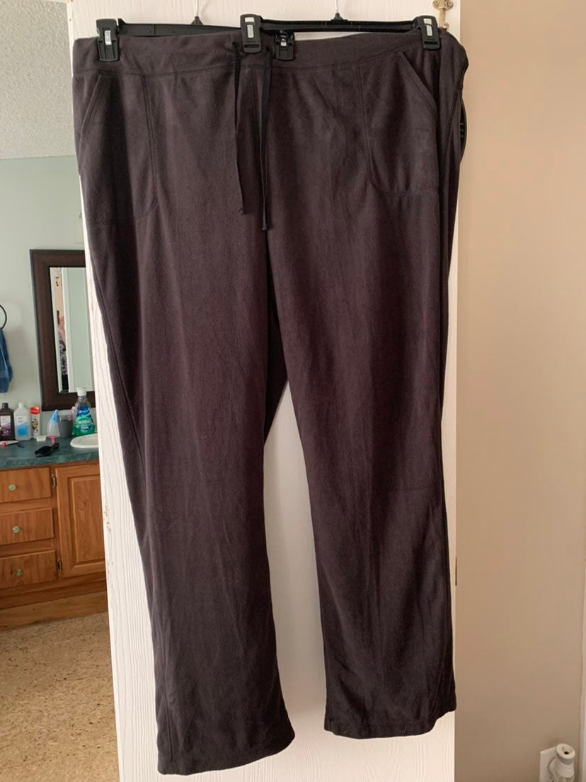 Womens 3X Long Tek Gear fleece pants