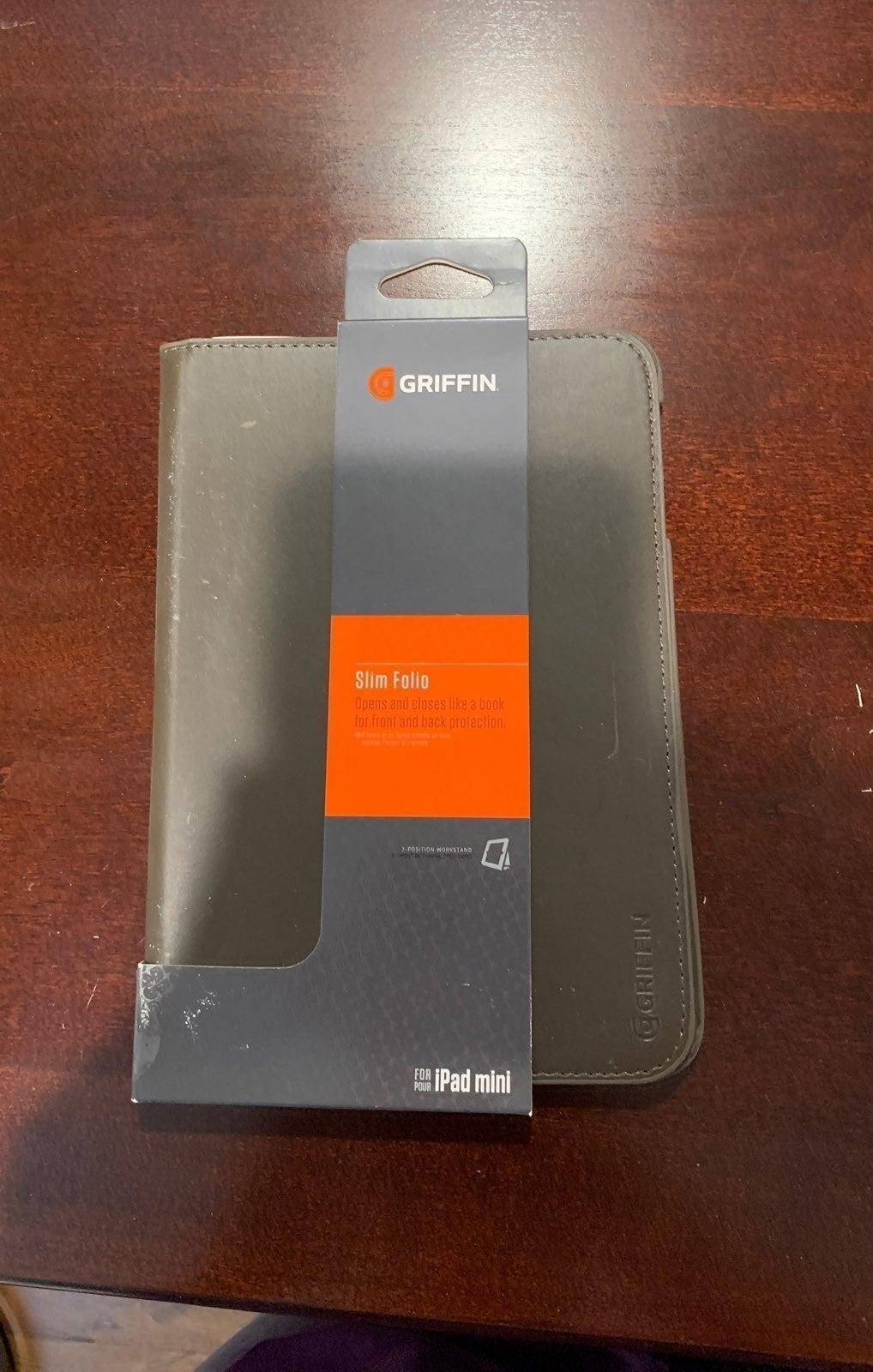 Griffin slim folio black ipad mini case
