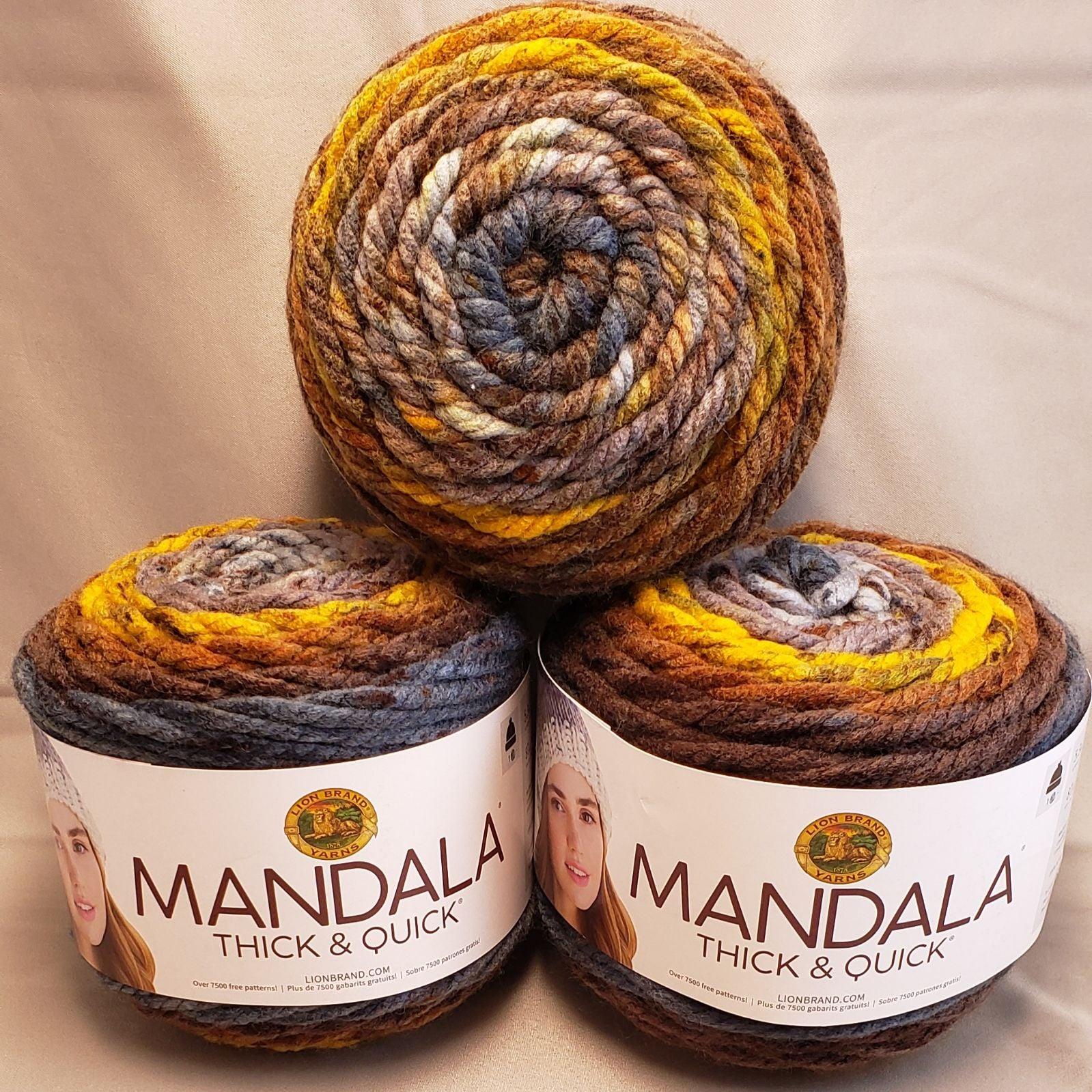 lot of 4 mandala thumbprint yarn