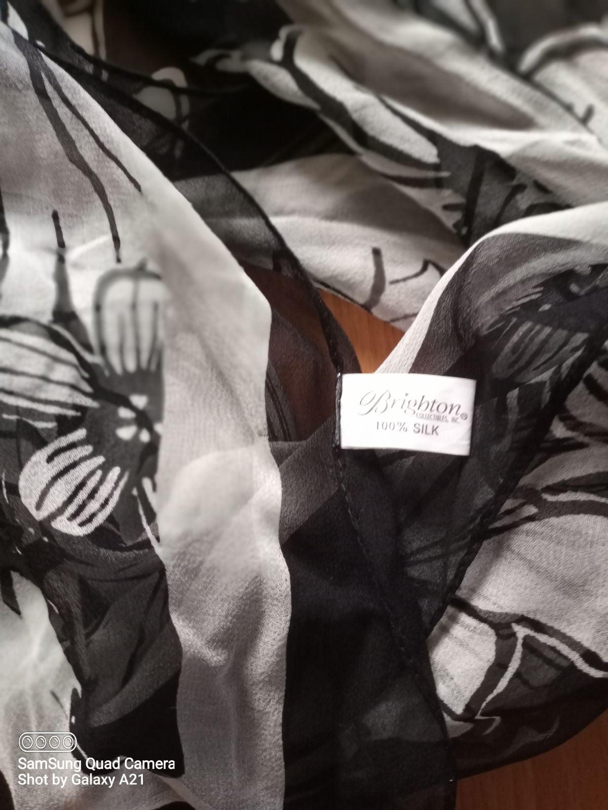Brighton silk scarf
