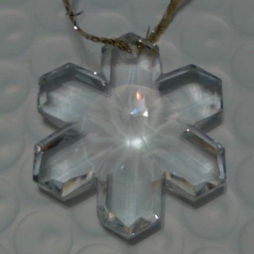 Crystal Glass Snowflake Ornament Small