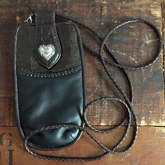 Brighton Black leather eyeglass case