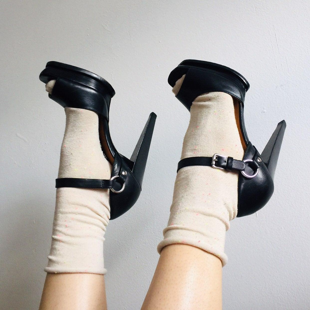 Kors platform sandal heels sz 7