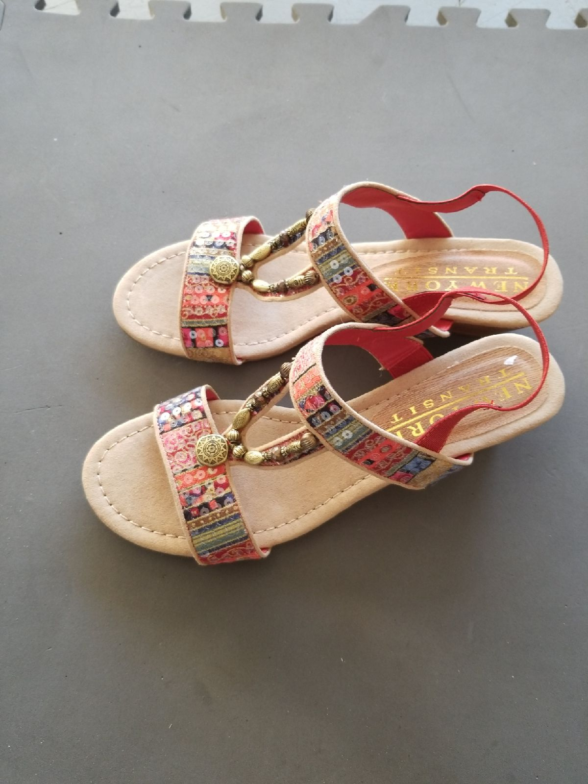 Red and brown Sandals