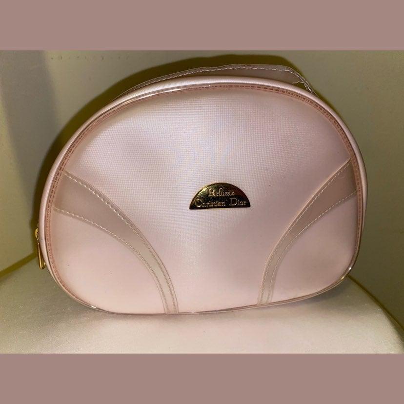 Christian dior pink cosmetic makeup bag