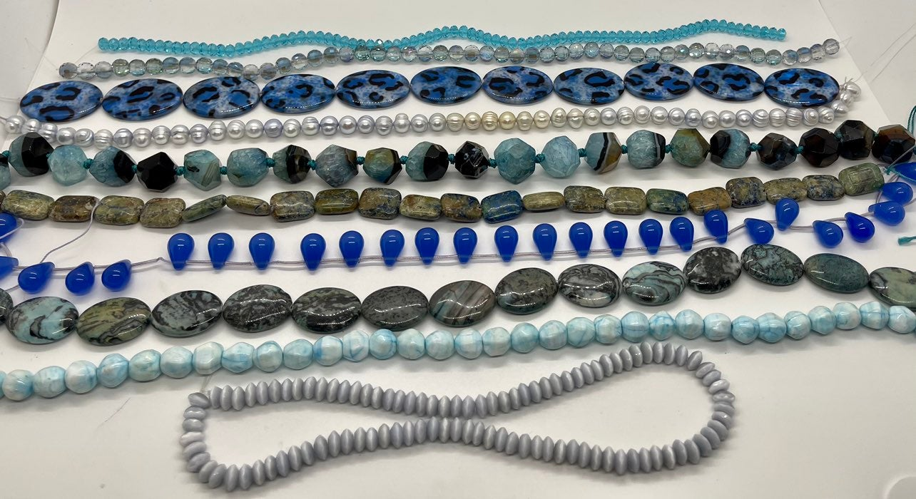 Lot of 10 Strands of Stones