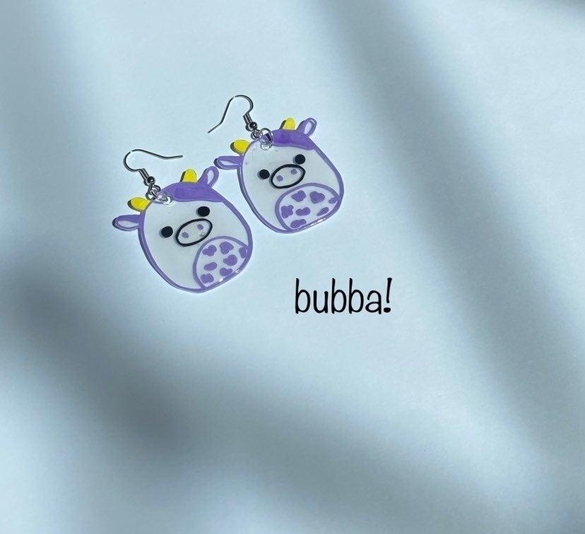 Squishmallow earrings- bubba!