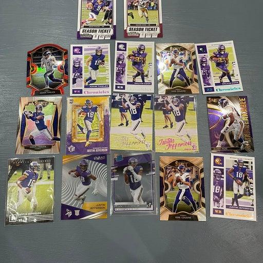 Vikings football card lot