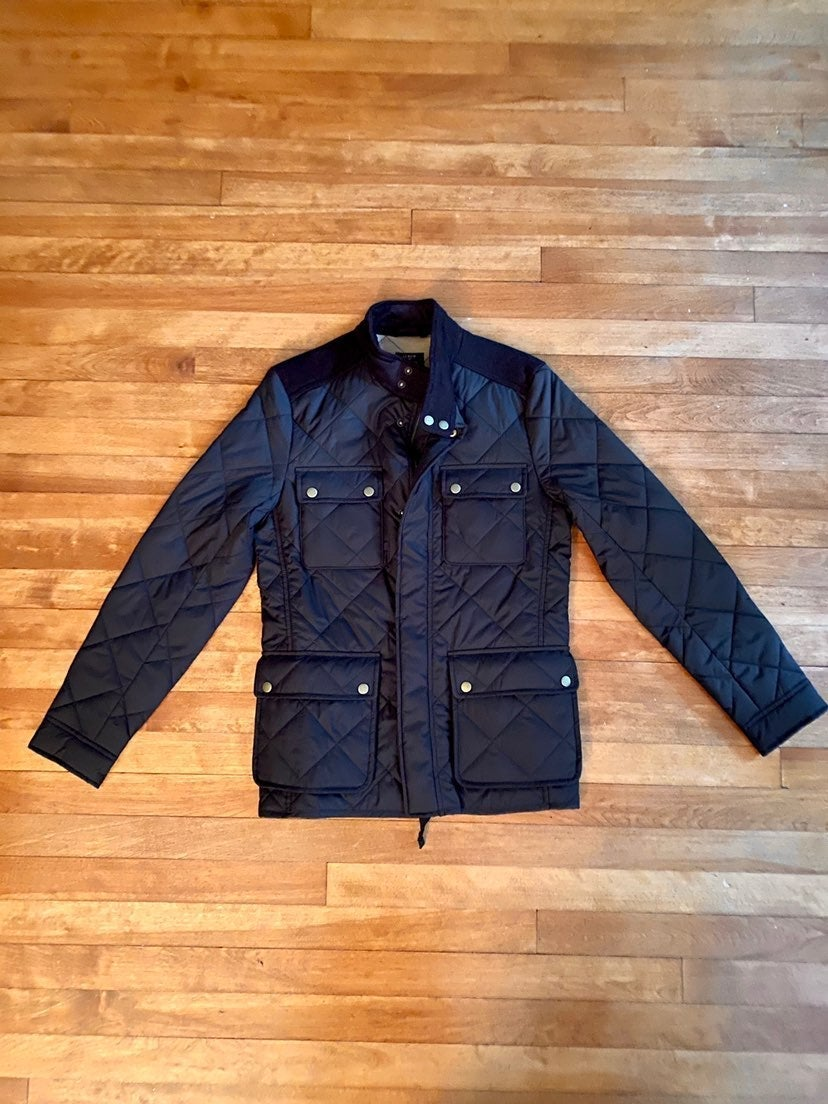 j crew Quilted Mens Jacket-xtra small
