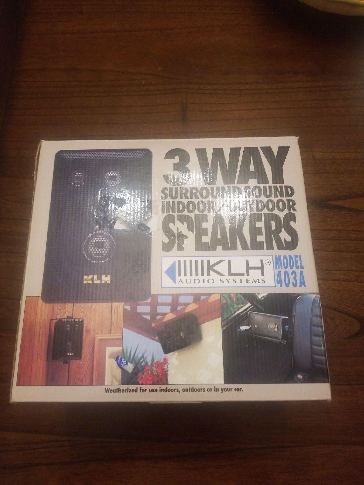Klh indoor outdoor speakers