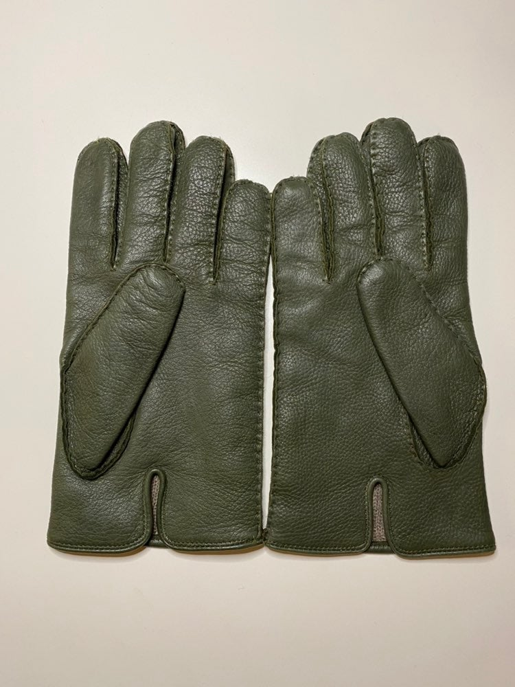 """COACH 100% Cashmere Leather Gloves """"S"""""""