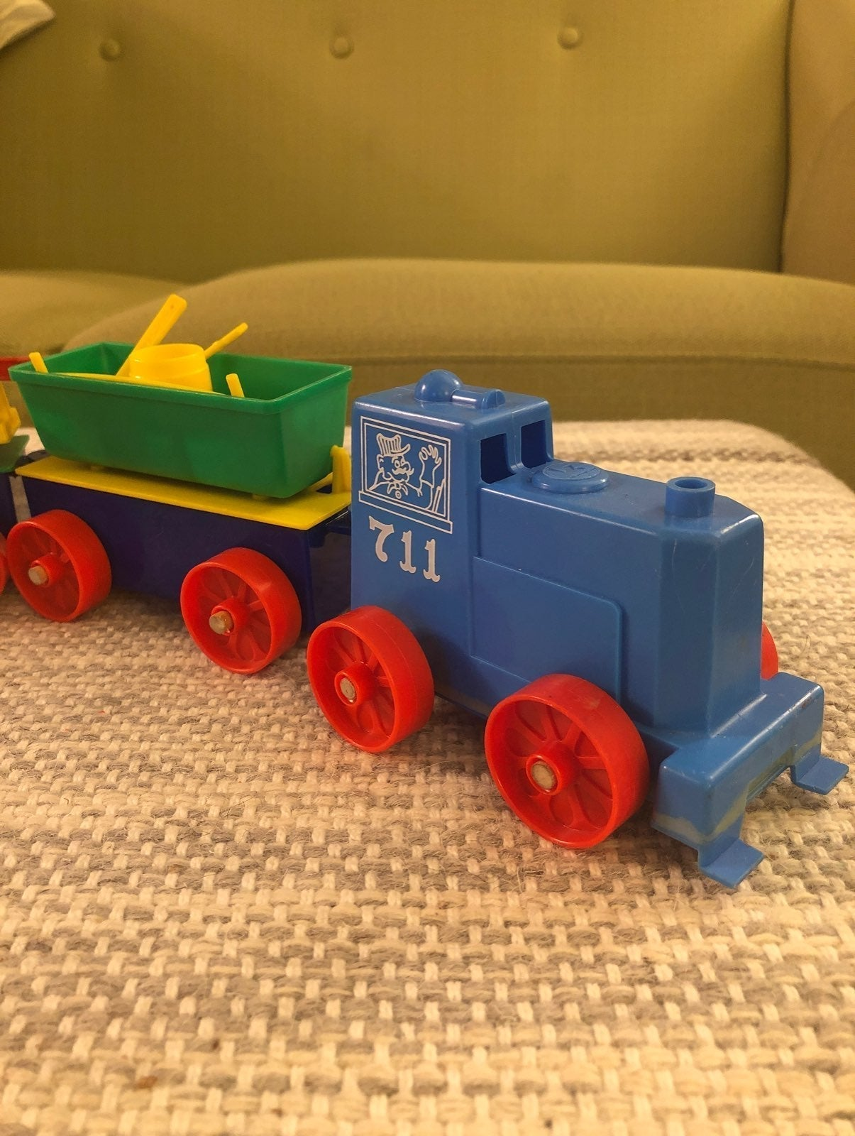 VNTG Plastic Toy Train Set