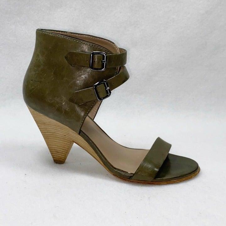belle Sigerson Morrison Green Leather Co