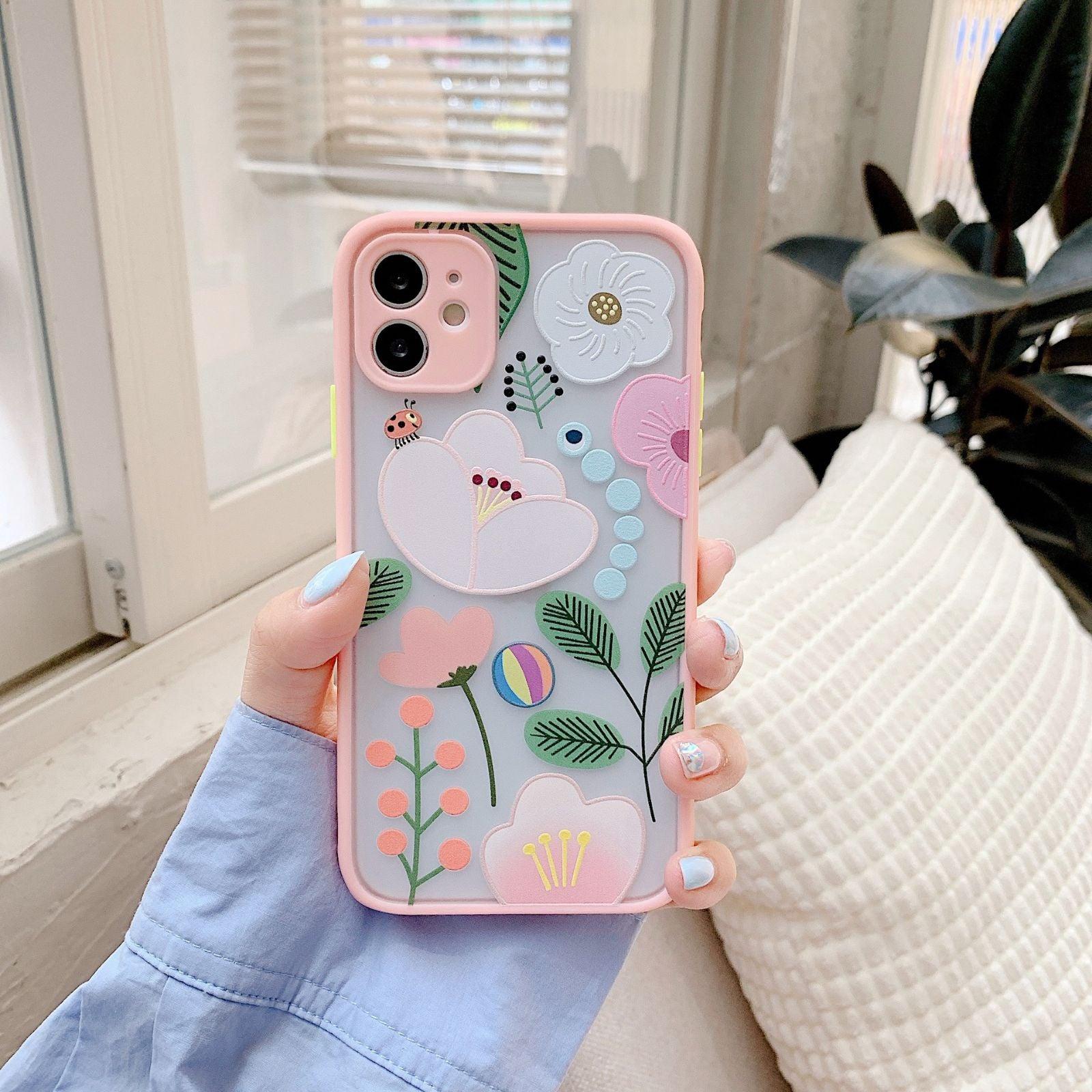 Iphone 11 case Floral Matte Shockproof