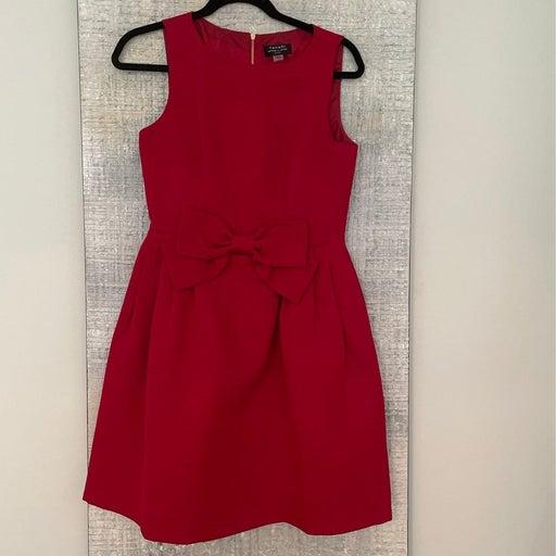 Tahari Red Bow Dress with pockets 4P