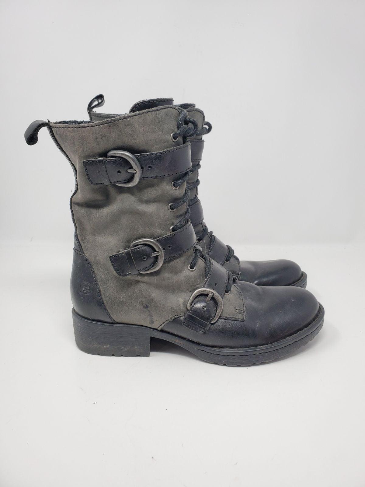 Born leather utility moto boots