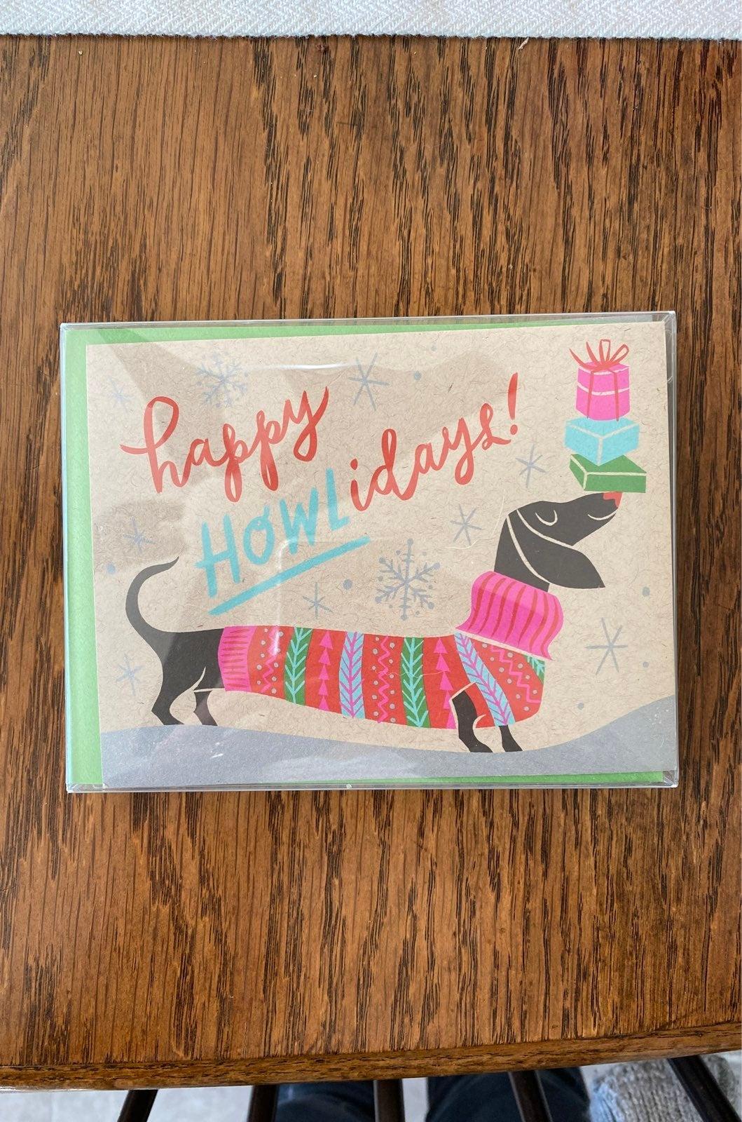 NIB Paper Source Dachshund Holiday Cards
