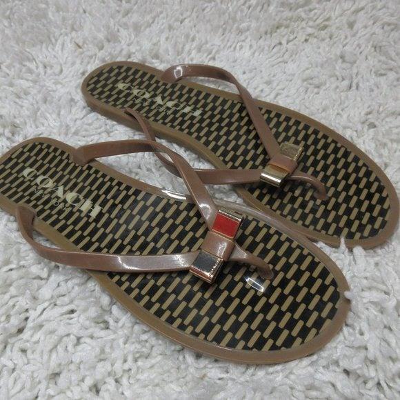 Coach Landon jelly sandals sz 8