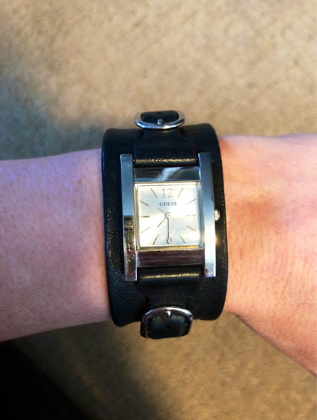 Ladies Guess Watch Leather Strap