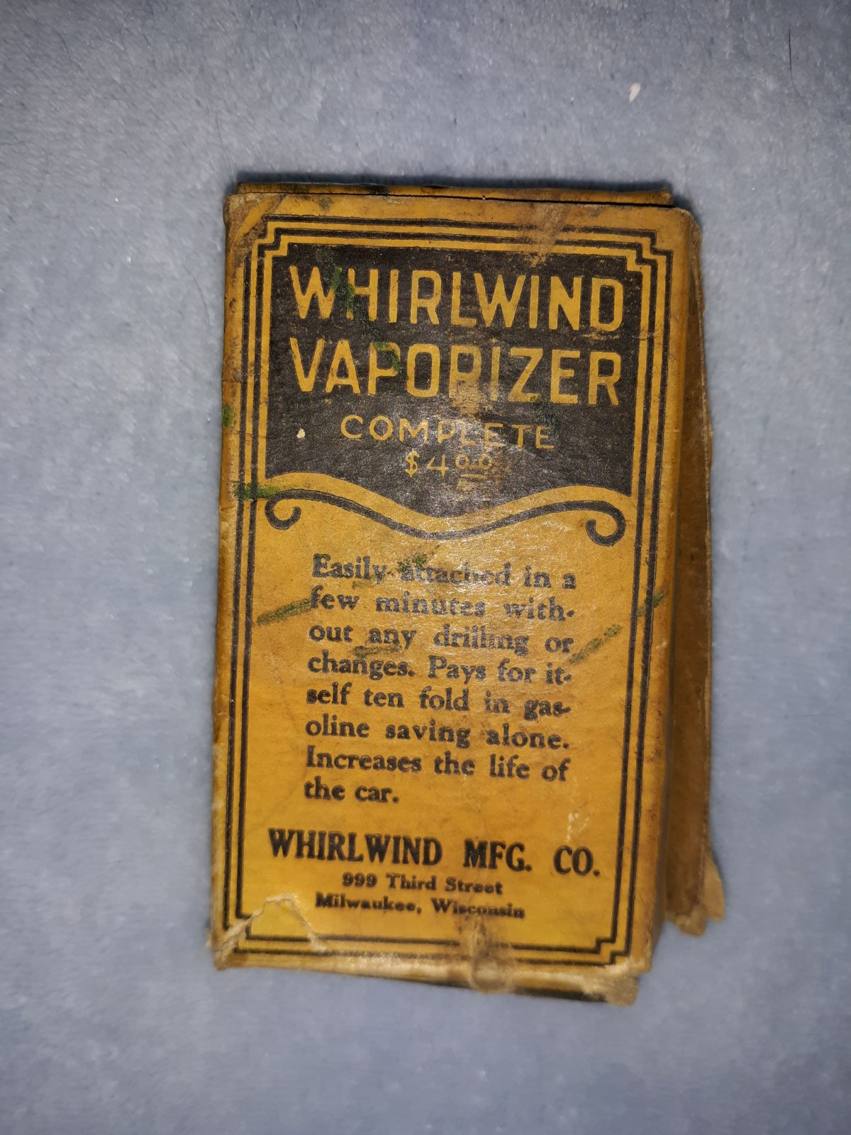Antique  whirlwind vaporizer